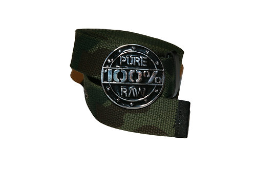 "CAMO ""PURE 100% RAW"" BELT (1 SIZE)"