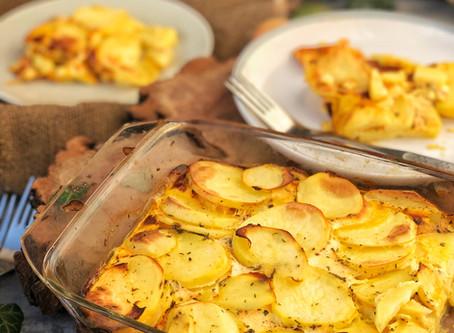 Klasika všech kuchyní, zapečené brambory!