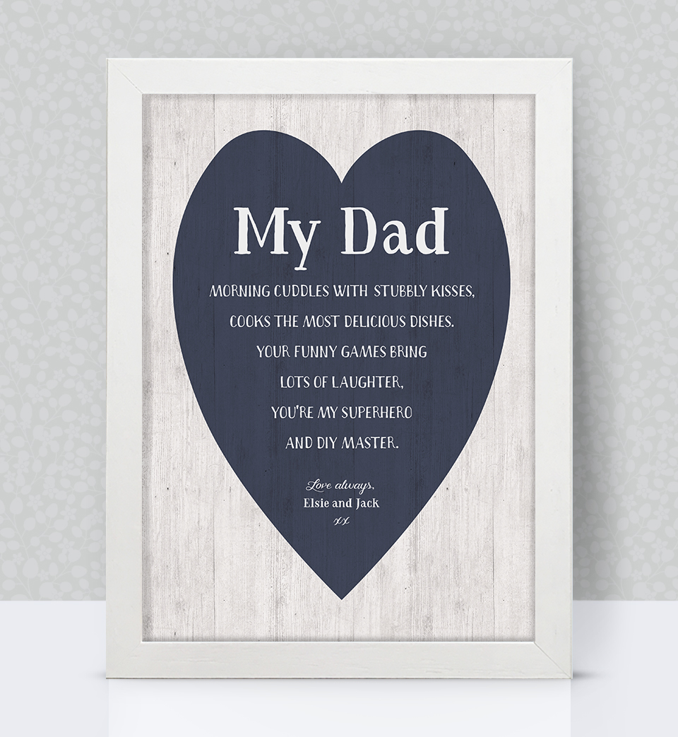 Dad personalised print