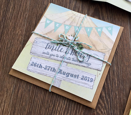 Camper van wedding invitation