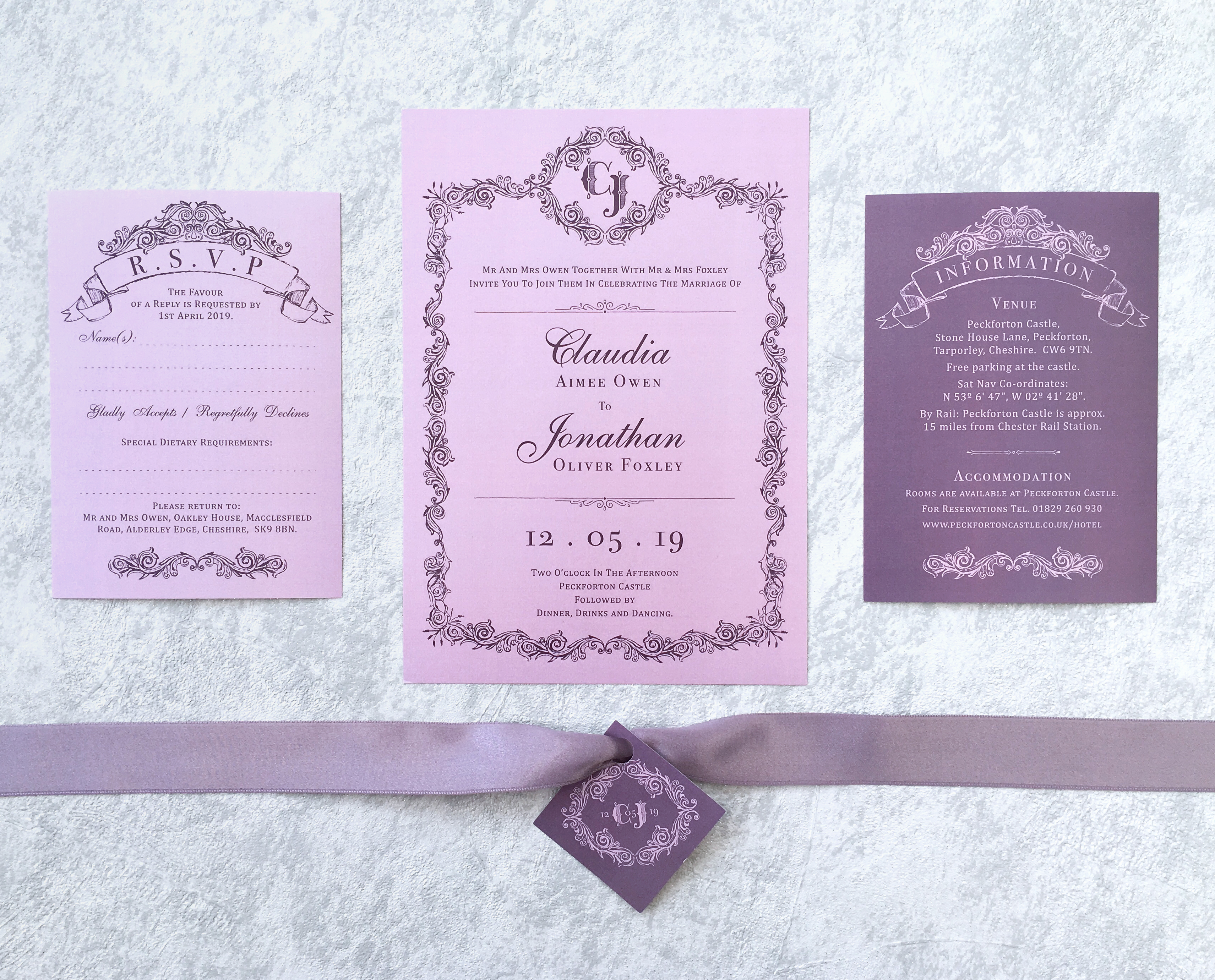Purple Haze Invitation Suite
