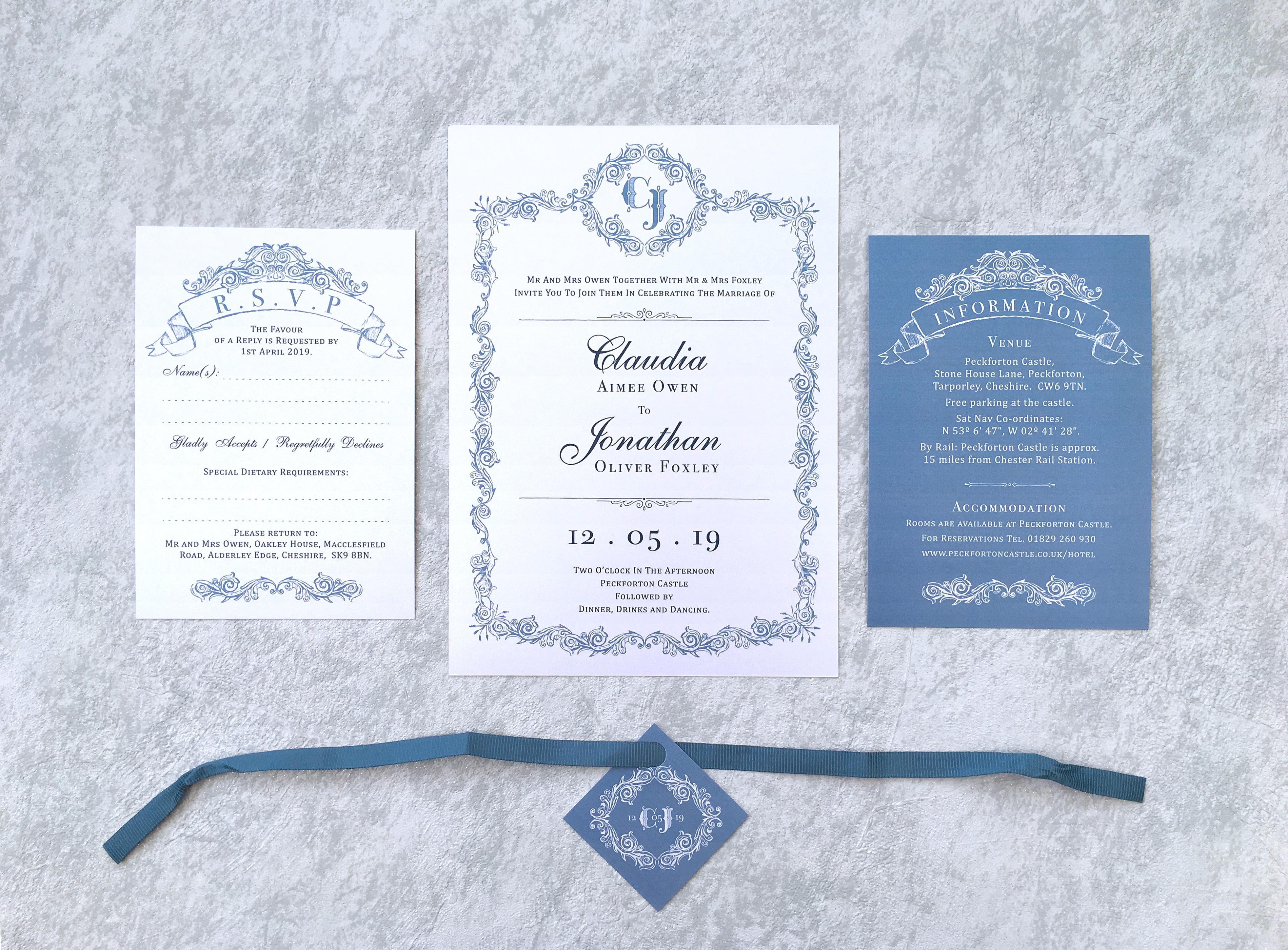 Wedgwood Blue Invitation Suite