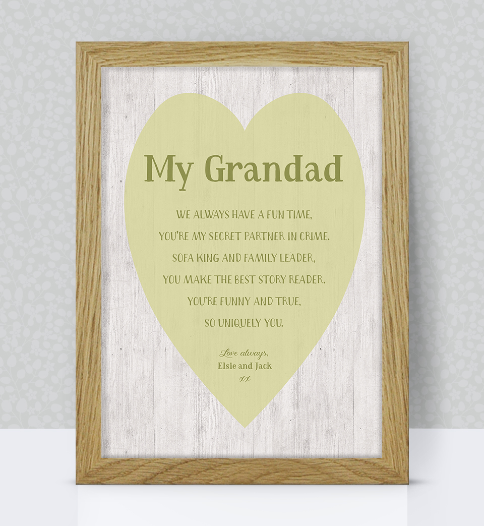 Grandad personalised print