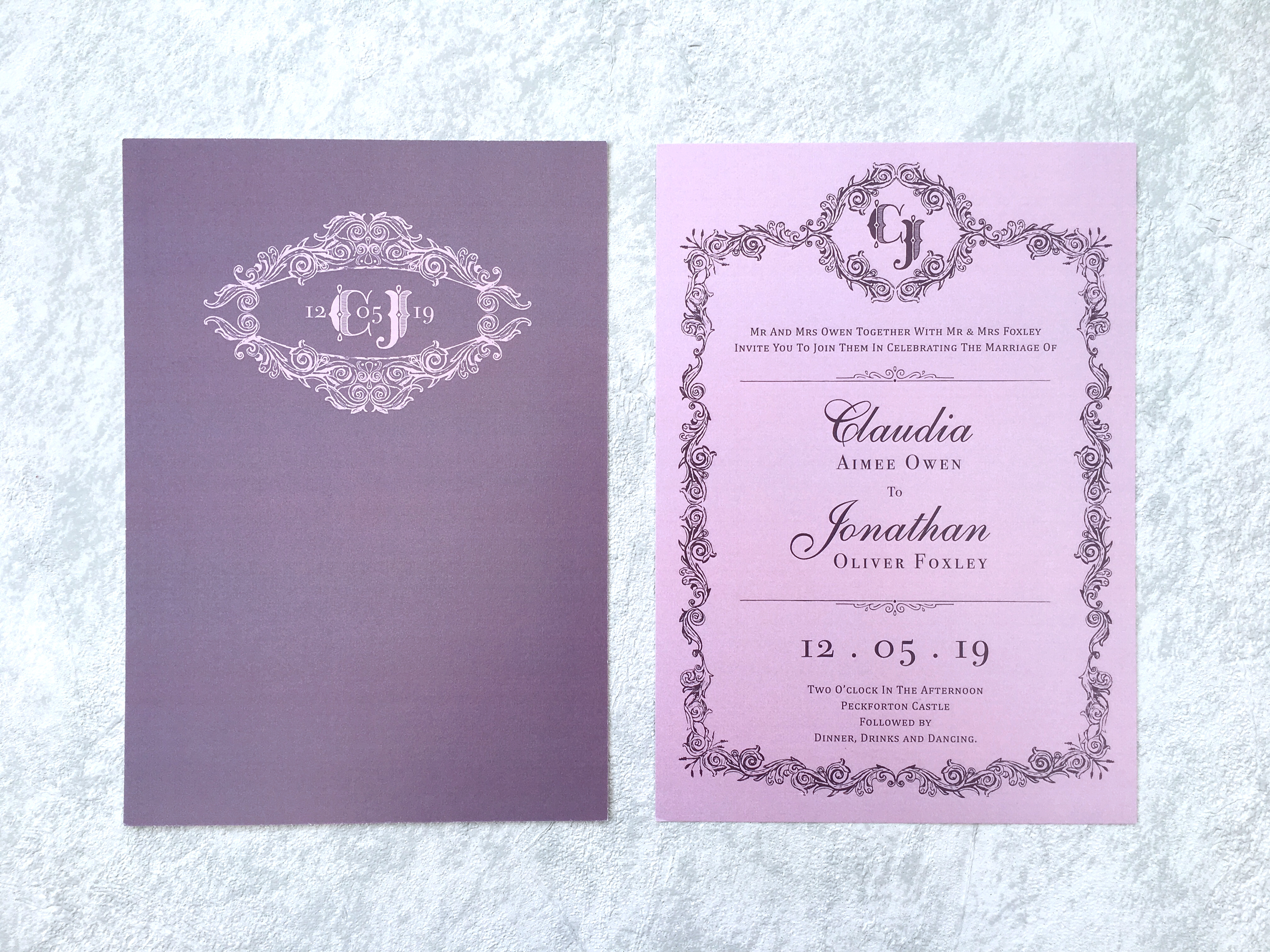 Purple Haze Invitation
