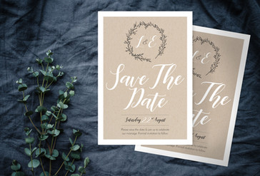 Rustic Save The Date - Shop Image Compre