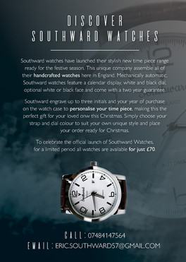 Southward Watches A5 Flyer - designed by
