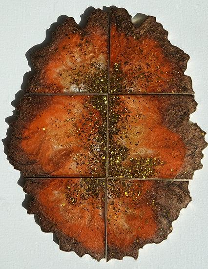 Coasters- fall - autumn - thanksgiving -set of 6