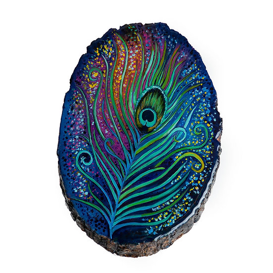 Peacock (glows in the dark) 7*10in