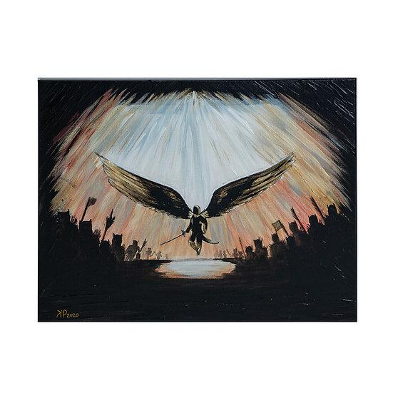 Archangel (glows in the dark!) 12*16in