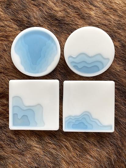 3D Resin Coasters, Set of 4, variations