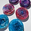 Thumbnail: Resin coasters, galaxy, 2 pieces