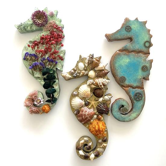 Seahorse decor, variations