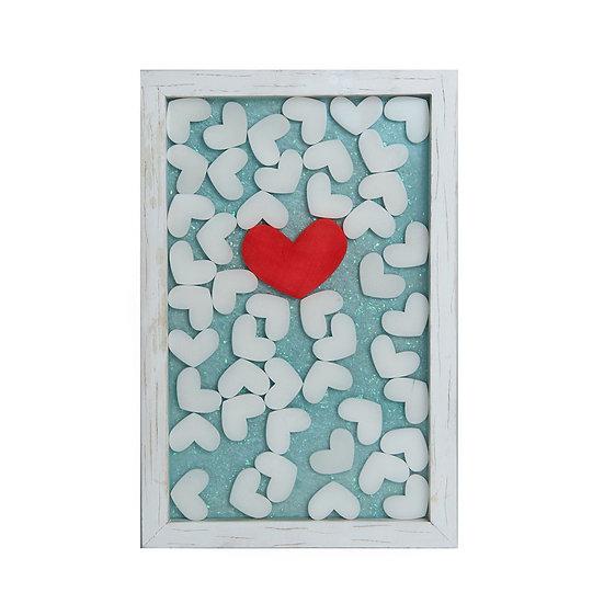 Heart On decor/fruit tray 12*18in