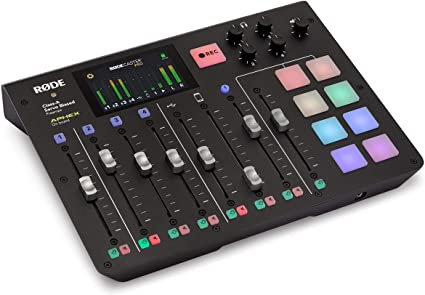 RODE  RODECASTER Pro. Podcast, 8Faders, 4Mic, 4Auric,USB,Bluetooth,microSD,APHEX
