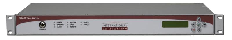 IDC Star One Pro Audio G1, Receptor Sat. Audio, DVB-S/S2, 100 kS/s, XLR, AES,1UR
