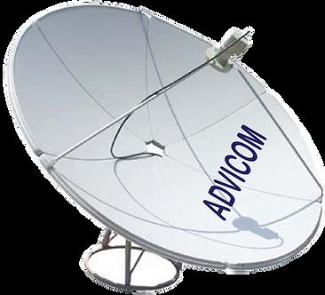 ADVICOM ASRO-024, RX, Diámetro 2.4m, Banda C, 3.7-4.2 GHz, 37.5 dBi, Galvanizada