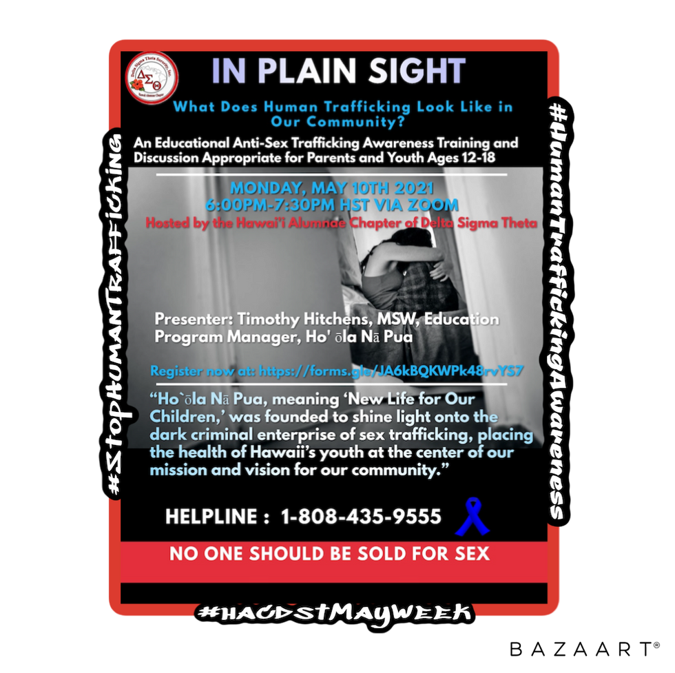 In Plain Sight: Anti-Trafficking Discussion