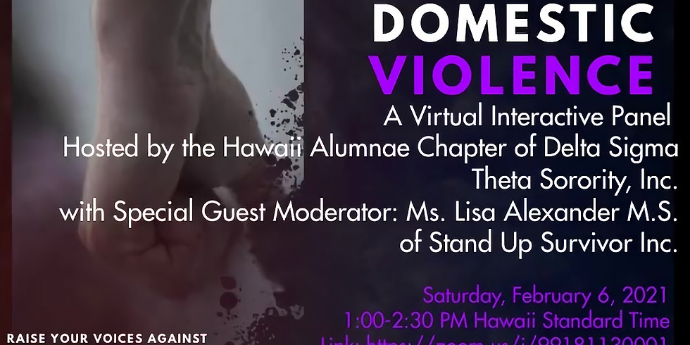 Stop Domestic Violence Virtual Panel