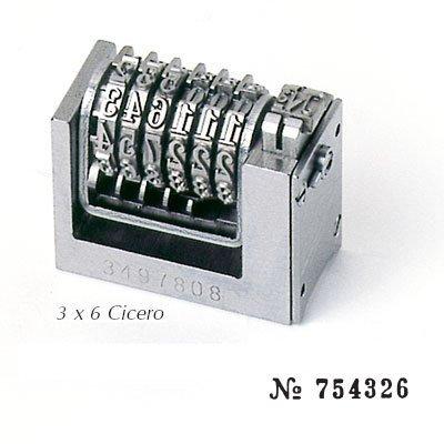 Numéroteur 3x6 cicéro à 6 molettes ROMAIN