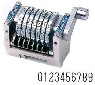 Numéroteur horizontal décomptant gravure 6.35 mm