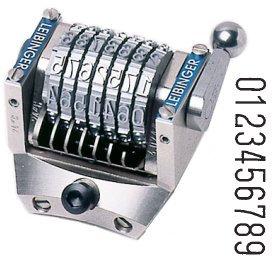 Numéroteur tonneau comptant gravure 6.35 mm