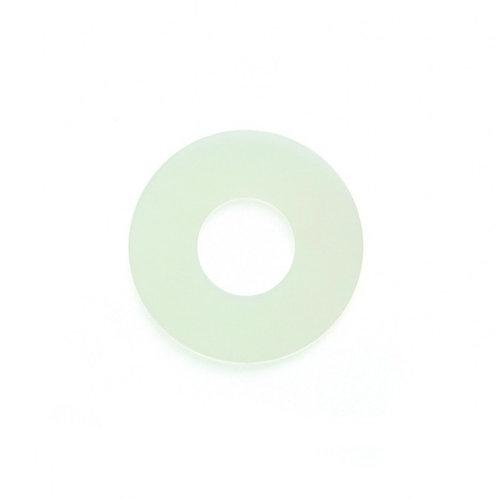 Ventouse plate - 38 x 13 x 1.0 mm - PVC blanc