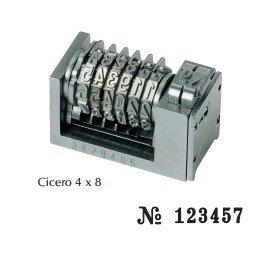 Numéroteur 4x8 cicéro à 6 molettes ROMAIN