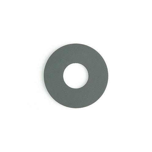 Ventouse plate - 38 x 13 x 0.8 mm - Caoutchouc gris