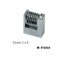 Numéroteur 2x4 cicéro à 6 molettes ROMAIN