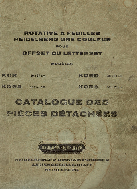 Catalogue pièces détachées KOR-KORA-KORD-KORS