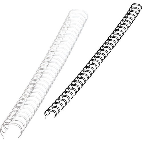 Reliure métallique - Wire-O - Blanc - 9.5 mm - 75 feuilles