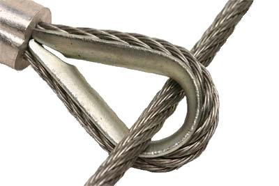 Câble en acier avec oeillet pour descente de plateau - S1539