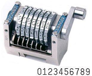 Numéroteur horizontal comptant gravure 4.76 mm