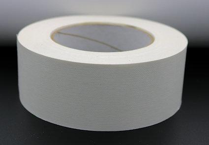 Adhésif pour dos de carnet - Blanc - Largeur 50 mm x 50 m.