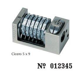 Numéroteur 5x9 cicéro à 6 molettes ROMAIN