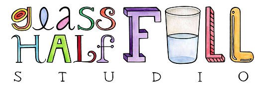 Glass Half Full Studio hand lettered greeting cards and art prints inspirational positive uplifting cards