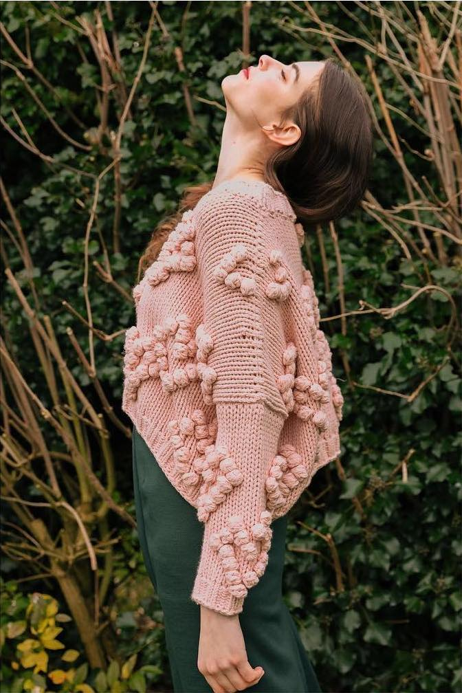 BABY PINK LOUNGE JUMPER WITH HEART DETAI