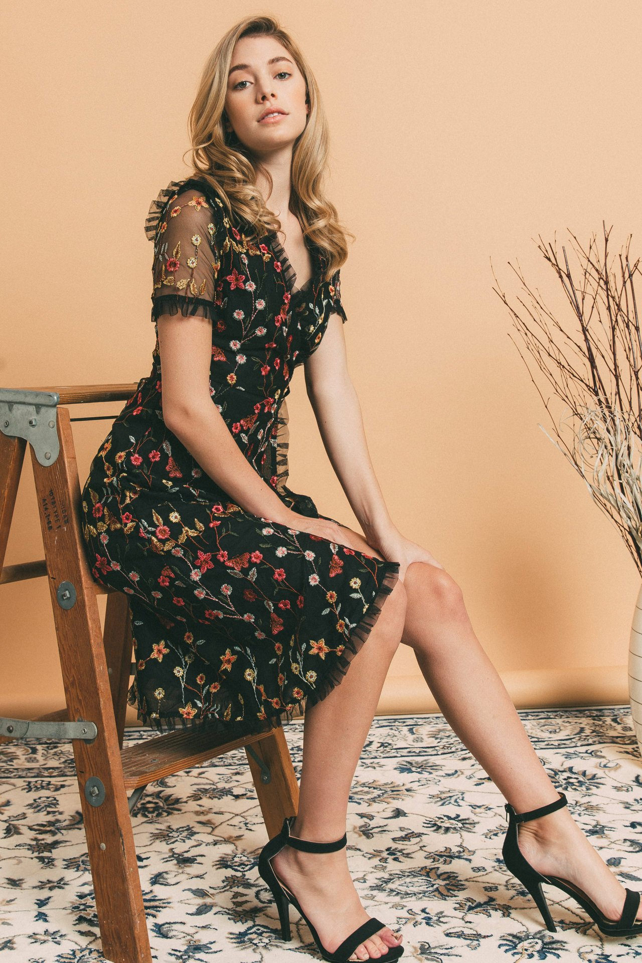 WRAP DRESS ENDLESS ROSE