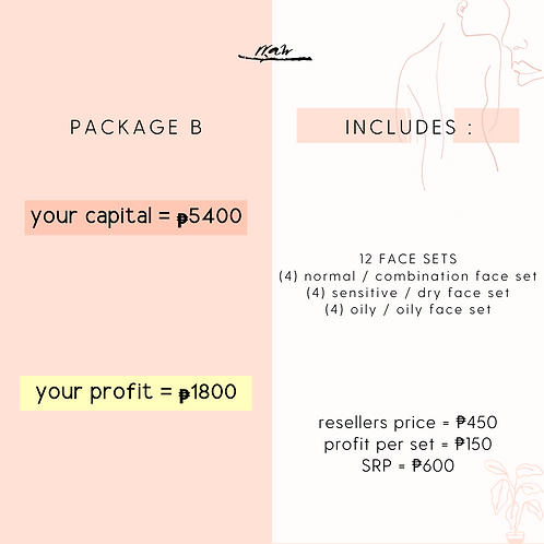 Package B #YourTypeFaceSet