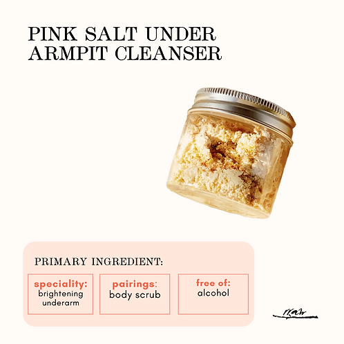Pink Salt Under Armpit Cleanser