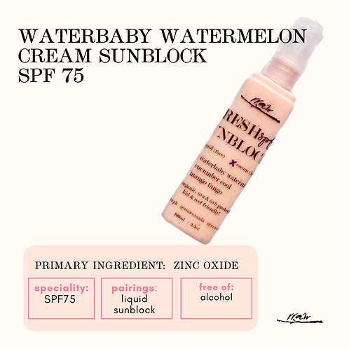 Waterbaby Watermelon Cream Sunblock SPF75