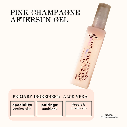 Pink Champagne After Sun Gel