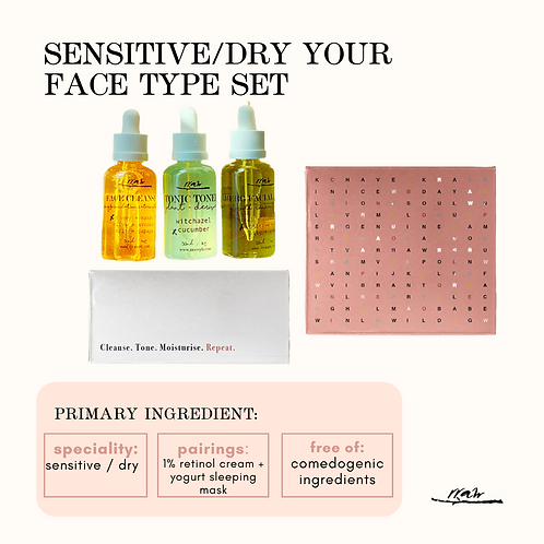 Sensitive / Dry Your Type Face Set