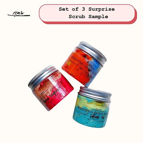 Set of 3 Surprise Scrub Sample