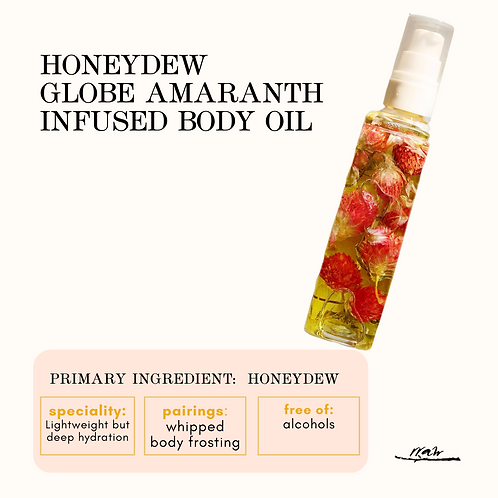 Globe Amaranth Infused Body Oil
