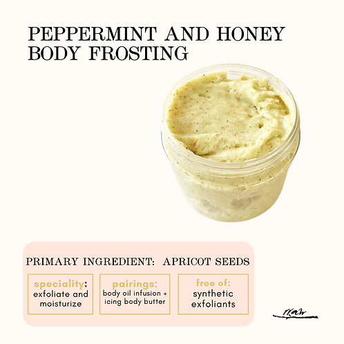 Peppermint and Honey Body Frosting