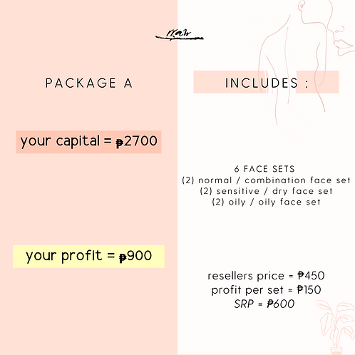 Package A #YourTypeFaceSet