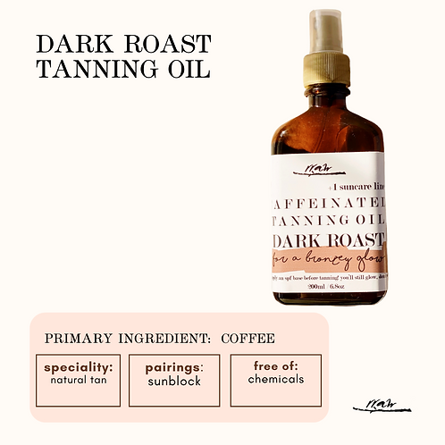 Dark Roast Tanning Oil