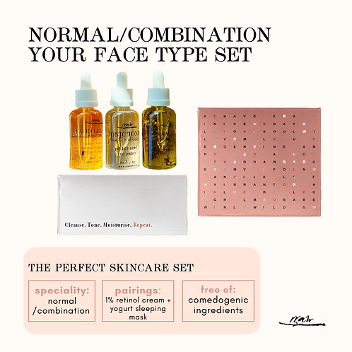 Normal / Combination Your Type Face Set