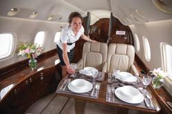 Corporate flight attendant training